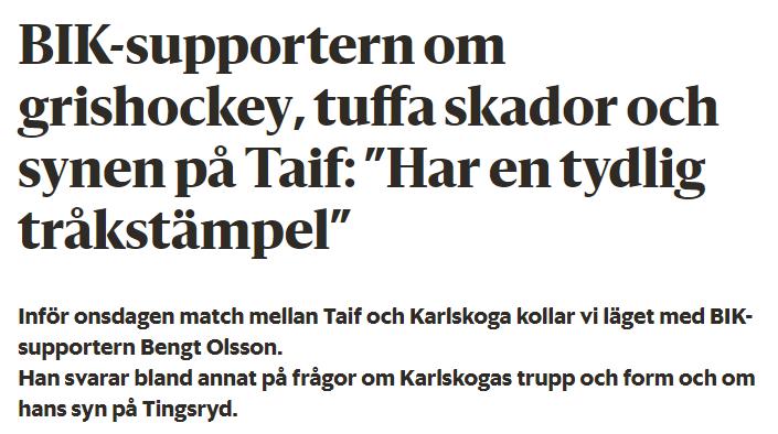 Grishockey eller tråkhockey?